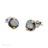 Banyan Jewellery Silver Moonstone Stud Earrings