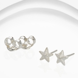 Banyan Small Silver Star Stud Earrings