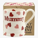 Emma Bridgewater Pink Hearts Mummy 1/2 Pint Mug Boxed