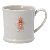 Gisela Graham Ceramic Mini Mug w Gingerbread Man