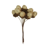 Gisela Graham Gold Glitter Acorn Pick Bunch